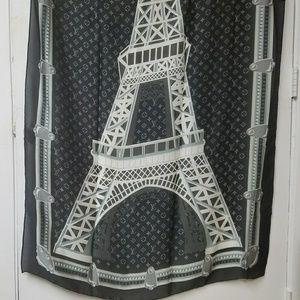 New large silk Louis Vuitton paris scarf/wrap